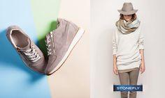 Stupite tutti con un #outfit primaverile sui toni del panna e tortora, abbinato alle nuovissime #sneakers traforate con zeppa interna #Stonefly!