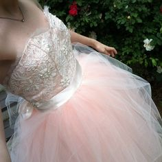 Gorgeous homemade wedding dress