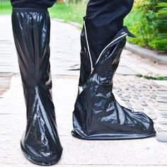 Transparent Waterproof Shoe Covers PVC Rainy Motorcycle Riding Cycling Non-Slip Overshoes Rain Shoe Covers Protective Galochas