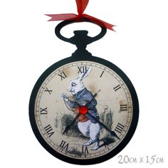 Alice in Wonderland Party Decoration Pocket Watch Prop Mad Hatters Tea HAND MADE