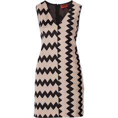 Missoni Crochet-knit mini dress (12.370 ARS) ❤ liked on Polyvore featuring dresses, short dresses, knit mini dress, zipper dress, panel dress and knit dress