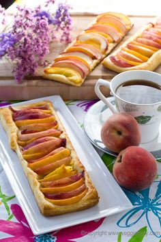 easy peach tart, inspired by Pioneer Woman's apple tart.