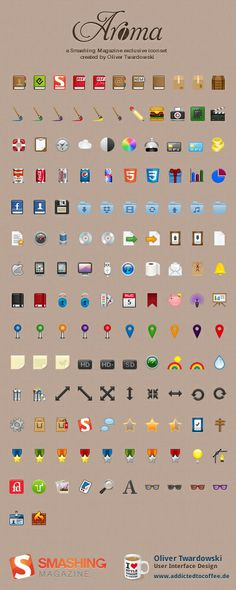 Aroma, free icons for web designers