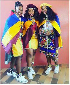 Swaziland Swaziland African Print Dresses, African Print Fashion, Tribal Fashion, African Fashion Dresses, African Dress, South African Traditional Dresses, African Traditional Wedding, Traditional Outfits, African Attire