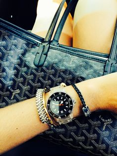 Arm Swag/Goyard St. Louis . Lelê Gianetti. Blog It Yourself. Fashion.