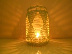 Shop for candles on Etsy, the place to express your creativity through the buying and selling of handmade and vintage goods. Crochet Cozy, Crocheted Lace, Hand Crochet, Lace Jars, Crochet Decoration, Tealight Candle Holders, Canning Jars, Christmas Items, Crochet Flowers