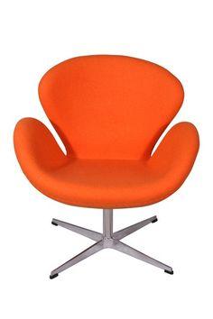 Wavy Accent Orange Chair by PARKER MODERN on @HauteLook
