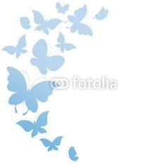 Stampa su tela #Farfalle blu. #stampa su #tela #shabby