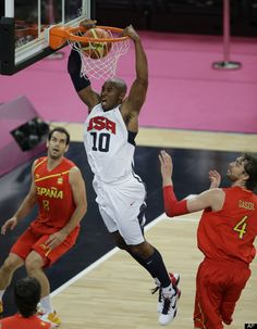 USA's Kobe Bryant dunks  Gold Medal Match