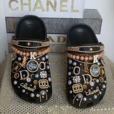 Crocs Fashion, Sneakers Fashion, Fashion Shoes, Swag Shoes, Bling Shoes, Jordan Shoes Girls, Girls Shoes, Crocs Shoes, Shoes Heels
