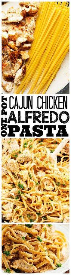An amazing one pot meal that is on the dinner table in less than 30 minutes! The cajun spice adds the perfect amount of flavor to the creamy alfredo sauce!