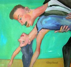 Afiche de tango 3 Sale of a painting of the Argentine Tango. Venta de una pintura sobre el tango Argentino.