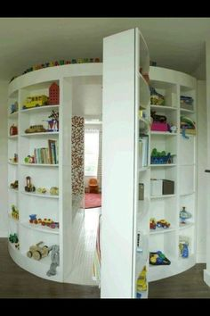 Childs reading room hidden behind toy shelves 31 Beautiful Hidden Rooms And Secret Passages Awesome Bedrooms, Cool Rooms, Awesome Beds, Totally Awesome, Dream Rooms, Dream Bedroom, Reading Room, New Room, House Rooms
