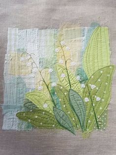 Lily of the Valley Machine Embroidery .....