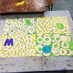 1000 images about kid art letter word art on pinterest for Adopt an element project ideas
