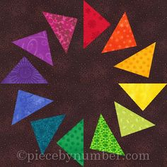 Circle of Geese paper pieced quilt block Pattern Paper Piecing Patterns, Quilt Block Patterns, Pattern Blocks, Quilt Blocks, Pattern Paper, Quilting Projects, Quilting Designs, Quilting Tips, Traditional Quilt Patterns