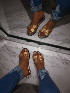 Surf womens hobby flip flops, water footwear, & more made for consolation & durability. Bling Sandals, Rhinestone Sandals, Sandals Outfit, Cute Sandals, Sport Sandals, Cute Shoes, Me Too Shoes, Silver Rhinestone, Heeled Boots