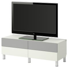 BESTÅ TV bench with drawers/front covers - white - IKEA