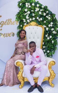 Official Photos of Ghanaian Movie Star John Dumelo and Gifty Mawunya's Traditional Engagement - BellaNaija Couples African Outfits, Best African Dresses, African Traditional Dresses, Latest African Fashion Dresses, African Print Dresses, Ankara Long Gown Styles, Lace Dress Styles, Ghana Traditional Wedding, Man Dress Design