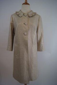 Sara Campbell Gold Linen Coat