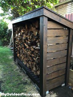 Outdoor Firewood Rack, Firewood Shed, Firewood Storage, Firewood Holder, Backyard Sheds, Fire Pit Backyard, Backyard Landscaping, Wood Storage Sheds, Wooden Sheds