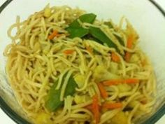 Yummy noodles that can easily be adapted to whatever taste your looking for. This can be served as a side or main dish. I have even served it at a barbeque.