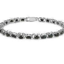 Genuine Sapphire Tennis Bracelet set in Sterling Silver 7 1/4 inches (7.75ct tw)