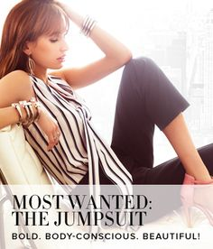 Womens Solid, Striped Jumpsuits from NY and Company