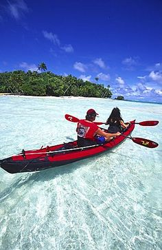 Kayak, Aitutaki, Cook Islands
