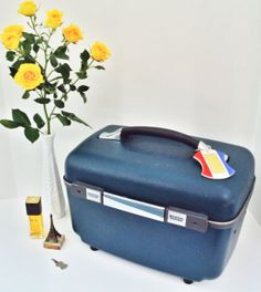 Vintage American Tourister Train Case with by RelovedRetro on Etsy