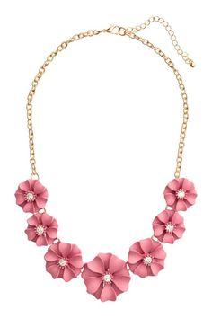 Collier court avec fleurs | H&M € 9,99