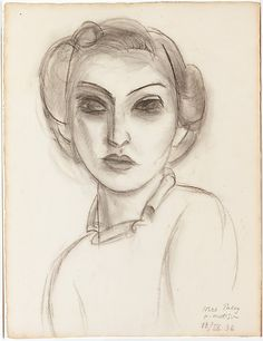 Henri Matisse - Dorothy Paley - 1936 - Charcoal on paper . look alike madonna Henri Matisse, Klimt, Modigliani, Kandinsky, Alphonse Mucha, Pablo Picasso, Matisse Drawing, Figurative Kunst, Plastic Art