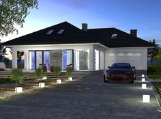 DOM.PL™ - Projekt domu DPS Orlando CE - DOM 1-33 - gotowy projekt domu Plans, Dom, Orlando, Mansions, House Styles, Outdoor Decor, Home Decor, Orlando Florida, Decoration Home