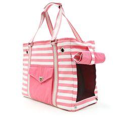 Felix Chien - Pink Stripe Dog Purse, $76.99 (http://www.felixchien.com/pink-stripe-dog-purse/)