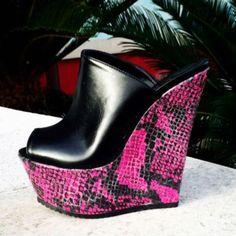 Hot High Heels, Wedge Heels, Crazy Shoes, Weird Shoes, Flip Flop Shoes, Designer Shoes, Rubber Rain Boots, Heeled Mules, Clogs