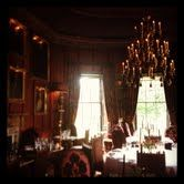 Rhubarb. Prestonfield House, Edinburgh. Mike proposed at the window table on the left