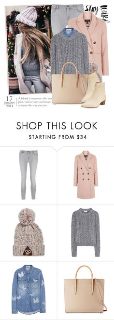 """""""2498. Get The Look"""" by chocolatepumma ❤ liked on Polyvore featuring J Brand, Topshop, Bow & Drape, Yves Saint Laurent, Valentino, Christian Louboutin and The Row"""