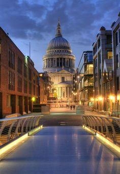 'St Paul's from the Bridge at Night'    #Britain #travel
