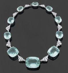Spectaculaire collier 'Art Déco'. Vers 1925