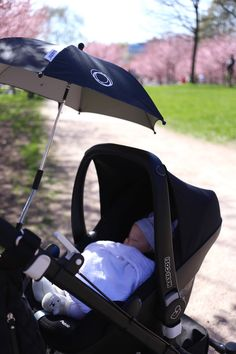Homevialaura | Mother's Day | Cherry blossom trees | Bugaboo Cameleon All Black