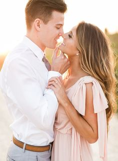 Light & Airy Engagement Photos - Inspired By This