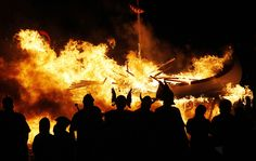 In Lerwick, the capital of Scotland's Shetland Islands, a fire festival named Up Helly Aa is held every January to mark the end of the yule season