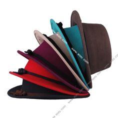 Vintage Lady Women's Trendy Bowler Belted Brim Wool Derby Hat Cloche Caps #eozy