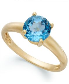Victoria Townsend 18k Gold over Sterling Silver Ring, Blue Topaz December Birthstone Ring (1-1/2 ct. t.w.)