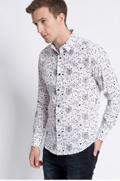 Zobacz produkt Medicine - Koszula Wildlife kolor biały  RW16-KDM605w oficjalnym sklepie odzieżowym online marki MEDICINE. Dostawa w 24h - dzisiaj zamawiasz, jutro przymierzasz. Zapraszamy do zakupów.