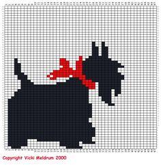 Knitting charts dog free crochet ideas for 2019 Cross Stitching, Cross Stitch Embroidery, Embroidery Patterns, Fair Isle Knitting Patterns, Knitting Charts, Free Knitting, Scottish Terrier, Cross Stitch Charts, Cross Stitch Patterns