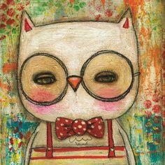 'Leonard the Owl' by Danita Art