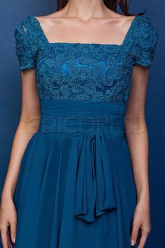 Attractive Lace A-Line Square Short-Sleeves Knee-Length Mother of the Bride Dress Mother of the Bride Dresses 2014- ericdress.com 9664899