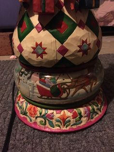 Heartwood Creek Jim Shore Santa Reindeer Sleigh Presents Lamp Excellent $195 | eBay