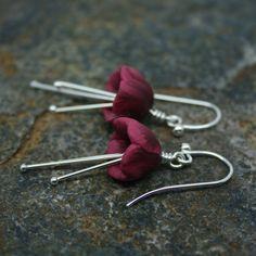 Tulip earrings on sterling silver hook by starboardjewellery
